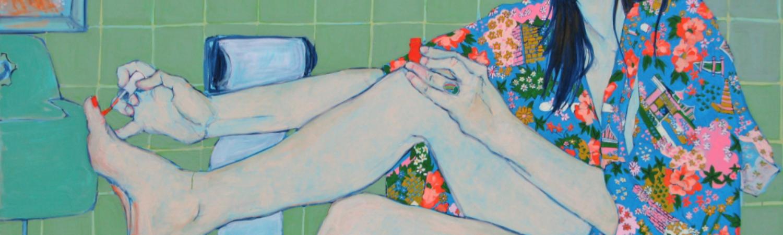 Sara VanDerBeek in Her Bath Closet, de Hope Gangloff