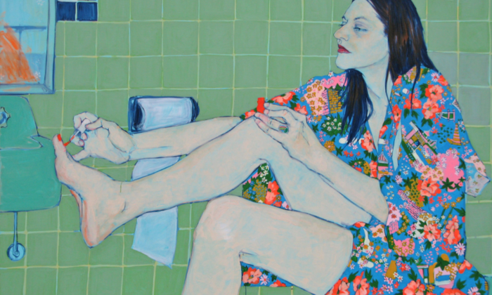 Sara VanDerBeek in Her Bath Closet, de Hope Gangloff