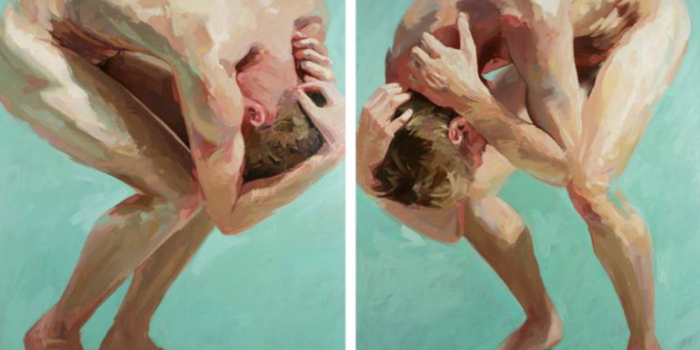 Two Men Meet (diptych), de David Edwards