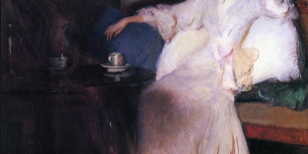 Arrangement in Pink and Grey, de Edmund Charles Tarbell