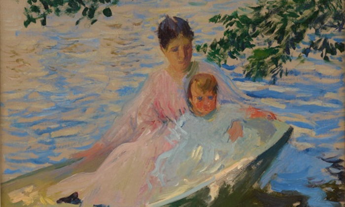 Mother and Child in a Boat, de Edmund Charles Tarbell