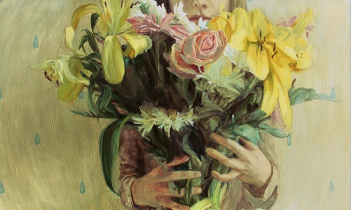 Still life with flowers, de Hélène Delmaire
