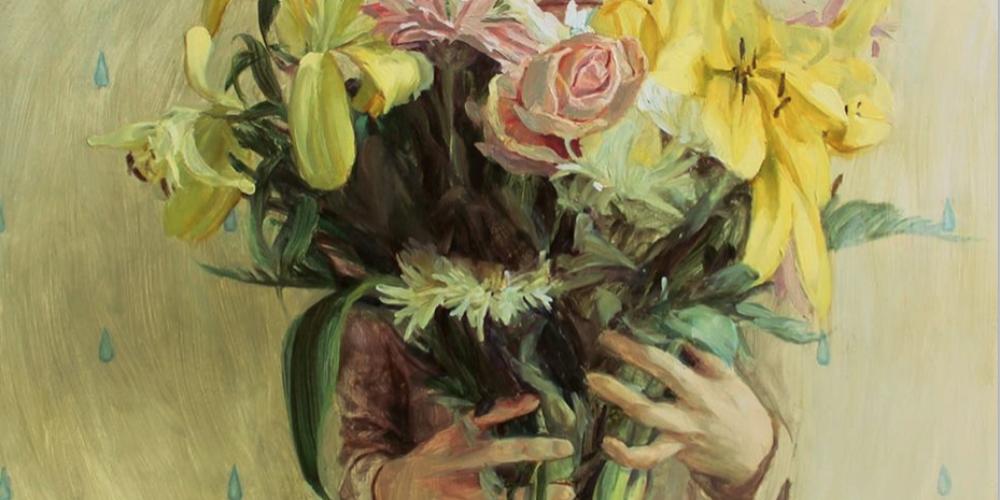 Still life with flowers, de Hélène Delmaire