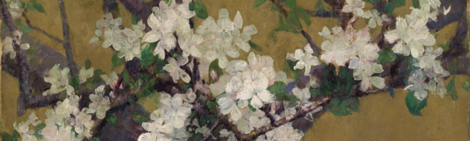 Almond tree in blossom, by John Peter Russell