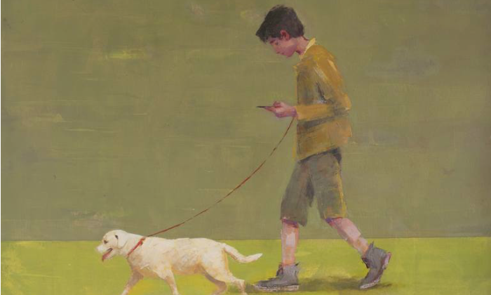 Dog guides child, de Tomasa Martin