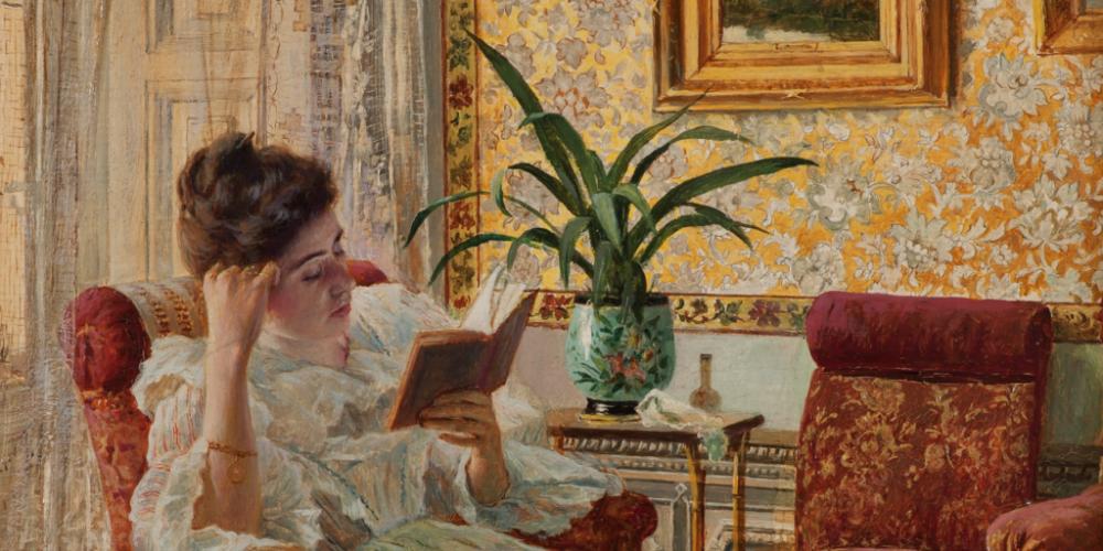Una-joven-leyendo-de-Ricardo-López-Cabrera-1024x609